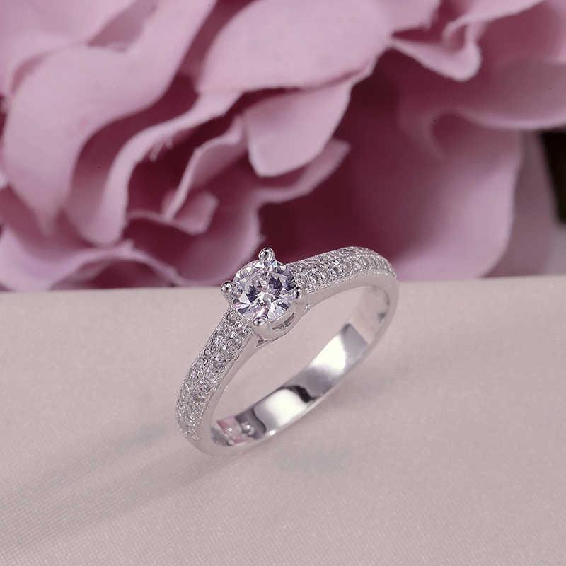 100% Настоящее 925 Серебряное кольцо для женщин, простое двойное штабелируемое ювелирное изделие, свадебные наборы, кольцо, аксессуары для свадьбы, помолвки