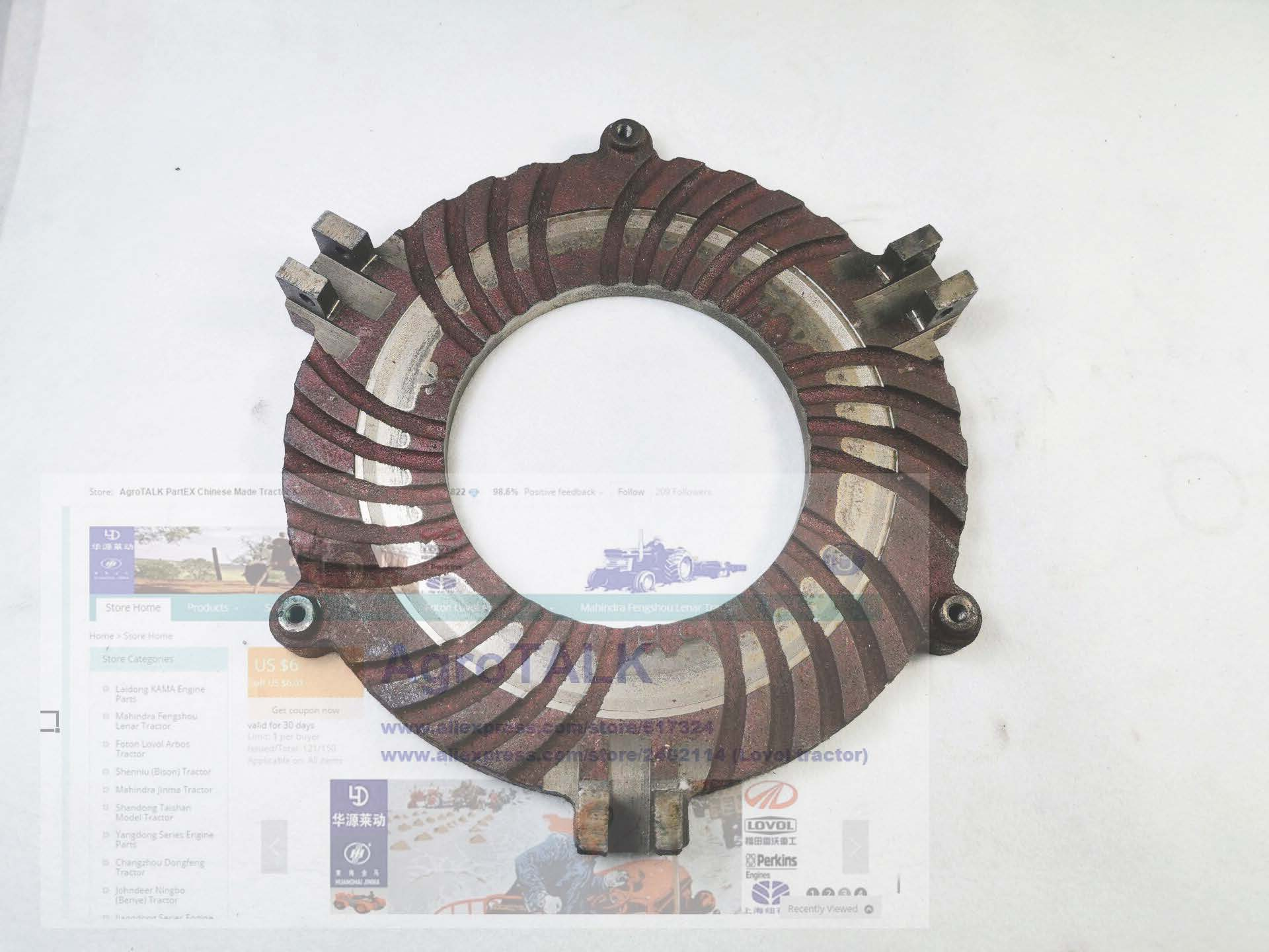 Shanghai tractor SH-654, the main pressure plate, part number:51321976Shanghai tractor SH-654, the main pressure plate, part number:51321976