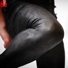 حجم كبير بولي PU فو الجلود سليم سروال رصاص رجالي كاوبوي نمط ضيق بنطلون عداء ببطء التمويه العسكرية الذكور مثلي الجنس المثيرة يغطي الرجل