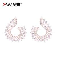יאן מיי של הנשים עיצוב תכשיטים זול הניצוץ האופנה מיקרו פייב הגדרת עגילי גביש Zirconia מעוקב GLE6651