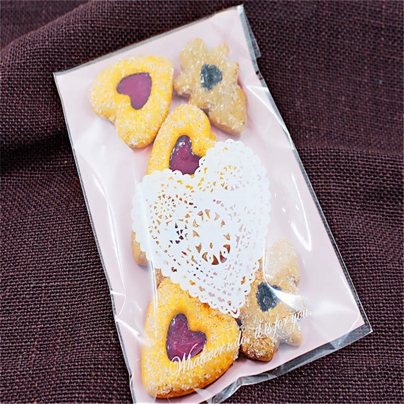 New 100pcs/lot romatic heart cookie bags wedding decoration wedding invitations baby shower favors and gifts birthday party