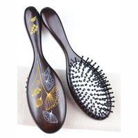 Care Healthy 1PCS Chinese Style Wood Comb Professional Healthy Paddle Cushion Hair Loss Massage Brush Hairbrush Comb Scalp Hair