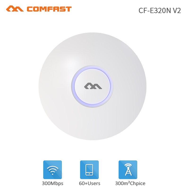 300Mbps Indoor Ceiling Wireless WiFi Access Point AP Router Open dd wrt Wi-Fi Repeater Extender Router 48V POE Power Adapter lafalink pw300s48c 300mbps 2 4g wireless inwall poe access point 48v wifi extender