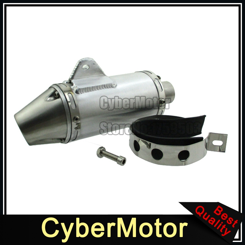 цена на 38mm Exhaust Muffler T4 Style For 125cc 140cc 150cc 160cc 190cc CRF50 KLX110 Pit Dirt Bike