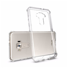 "QTNED Hybrid Phone Back Cover For Asus Zenfone 3 ZE552KL 5.5"" Air Cushion Frame Case Amor Protective Funda Coque Shell Mask"