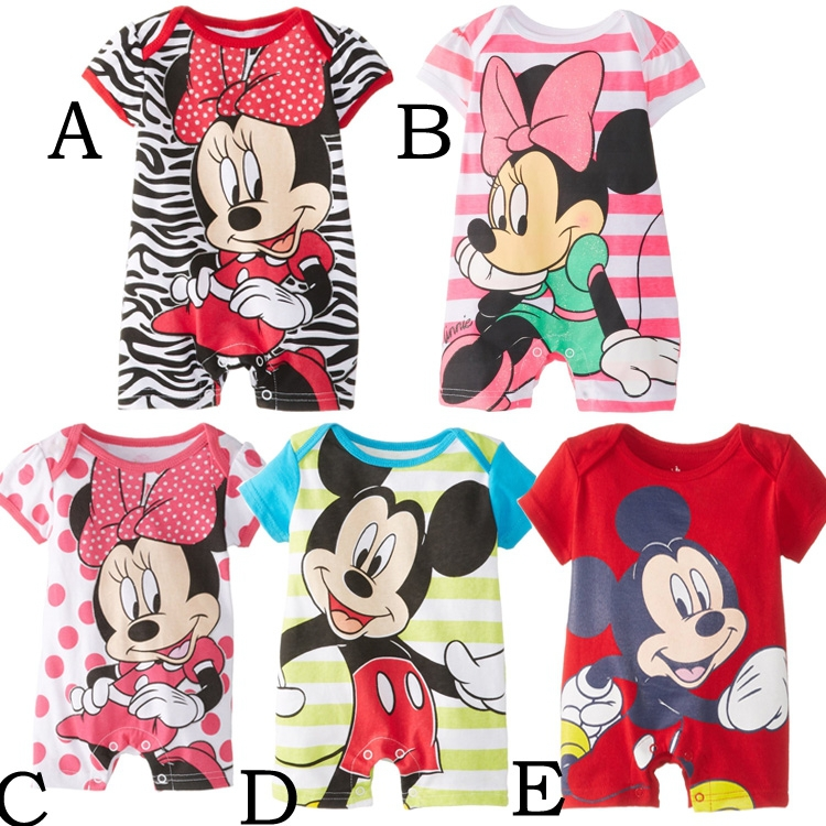 2016 Newborn baby rompers cute minnie cartoon 100% cotton baby romper short sleeve infant jumpsuit boy girl baby clothing baby romper newborn infant long sleeve cartoon animals rompers cotton wool baby clothing baby boy girl cute one pieces jumpsuit
