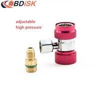 1 UNIDS R-1234YF refrigerante de alta presión ajustable conector rápido especial auto herramientas de reparación de aire acondicionado y refrigeración