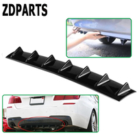 ZDPARTS Car Shark Fin 7 Wings Bumper Spoiler Stickers For Renault Megane 2 ford focus 2 3 ford fiesta ford mondeo kuga