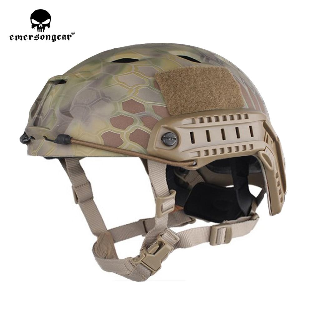 emersongear Emerson Fast Helmet BJ TYPE Bump Jump Helmet ABS Protective Adjustable Airsoft Climbing Tactical Helmet