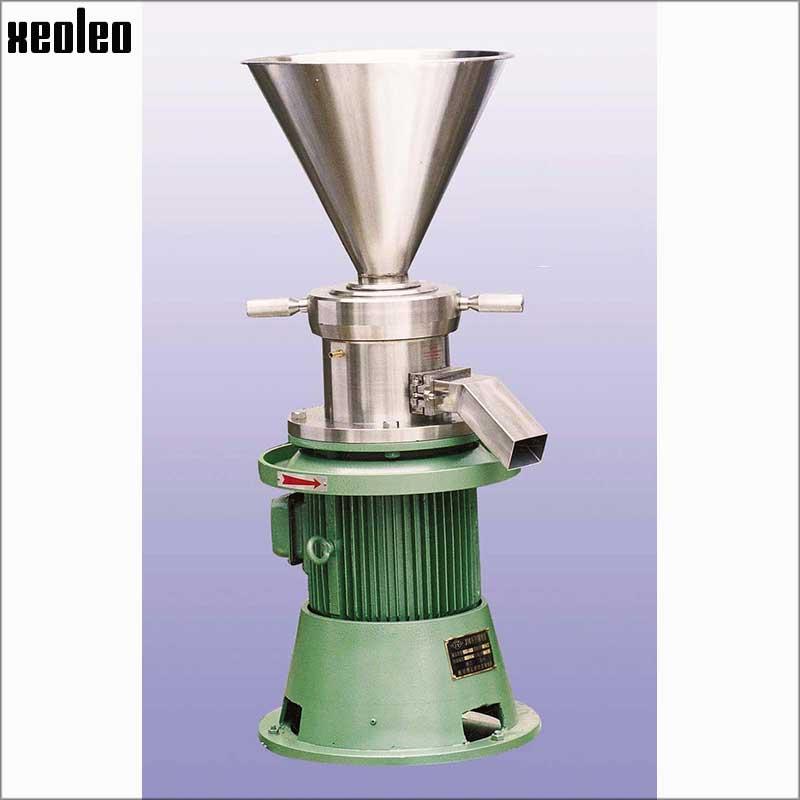 Xeoleo Commercial Nut Butter Machine 380V/7.5KW Sesame/Peanut Butter Maker 80kg/H Suitable for Almond/Walnuts Butter Grinder udmj 150 grain butter making machine cereal butter maker with motor