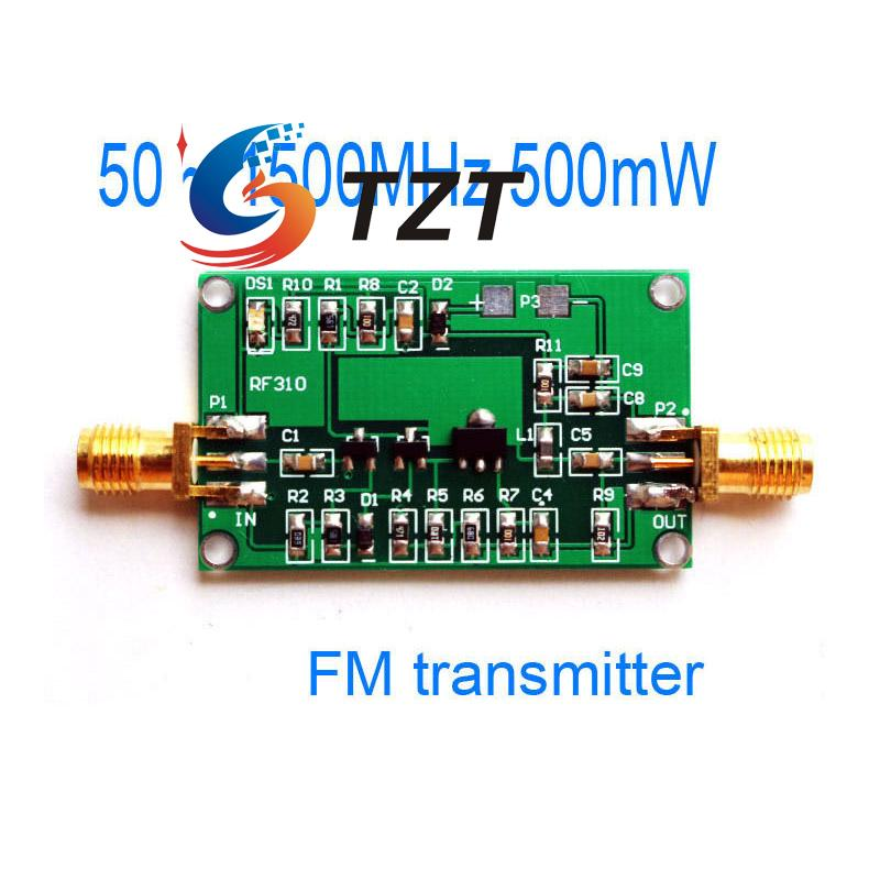 FM Transmitter 50-1500MHz 500mW Broadband RF Power Amplifier 0.5W