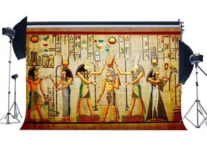 Image 1 - Shabby Egypt Backdrop Old Egyptian Mural Painting Backdrops Ancient Pharaoh and Hieroglyphics Background