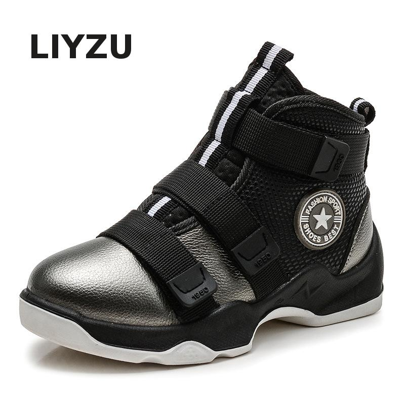 Kids Running Sneakers Casual Shoes Genuine Leather sports Shoes Fashion Boys Slip Wear Children Shoes Comfortable Breathable 2016 new shoes for children breathable children boy shoes casual running kids sneakers mesh boys sport shoes kids sneakers