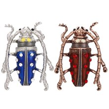 New Fashion Style Vintage Big Mata Indah Enamel Beetle Serangga Bros Bros Pink Warna Merah Pin Perhiasan Berkualitas Tinggi(China)