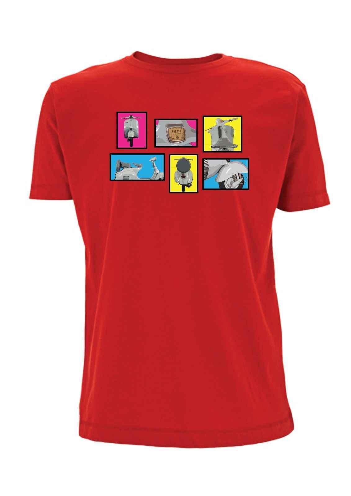 Scooter Tshirt 1960s vespa inspired mod ska club vintage biker tshirt 2 stroke hot new fashion free shipping 2018 officia shirts