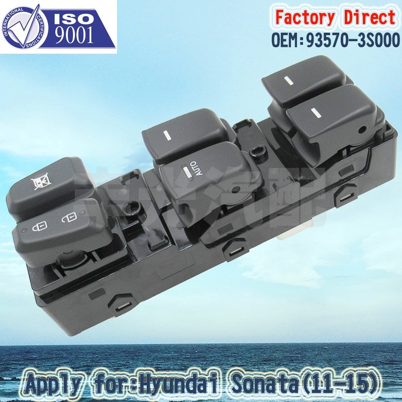 Factory Direct Driver Side Master Auto Power Window Switch 93570-3S000 Apply For Hyundai Sonata 2011-2015