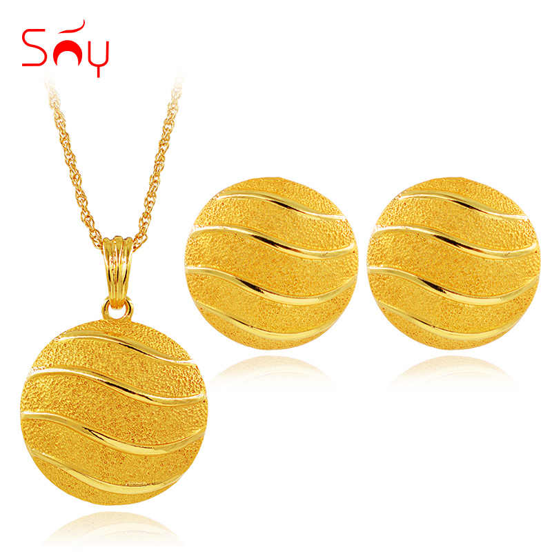 Sunny Jewelry Big Round Jewelry Sets For Women Necklace Earrings Pendant Classic Jewelry Sets For Wedding Birthday Jewelry Gifts