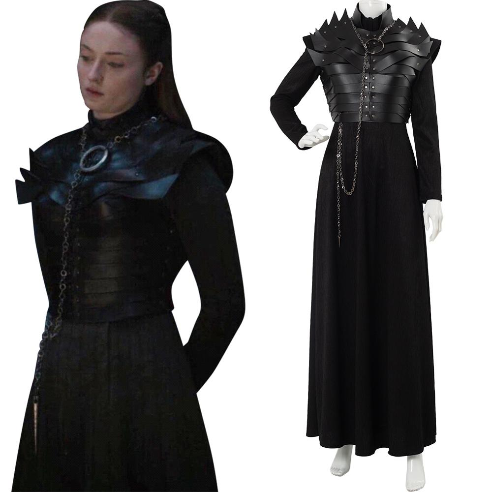 Game of Thrones Sansa Stark Women Medieval Dress Royal Cosplay Cos