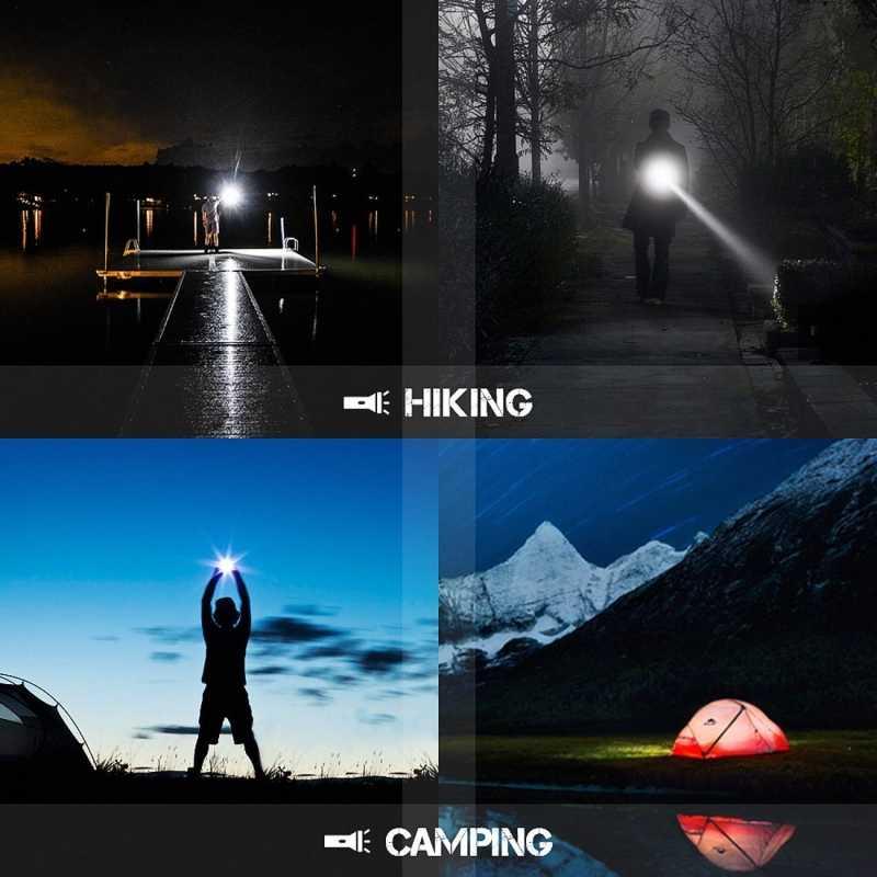 Mini Led taschenlampe Super Helle Einstellbare taschenlampe Q5/T6/L2 8000LM linterna led lanterna Zoomable angeln Camping Fahrrad licht