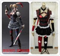 Cartoon Movie Batman Arkham Harley Quinn Helloween Carnival Cosplay Costumes Outfit Party Dress Dark Knight Suit