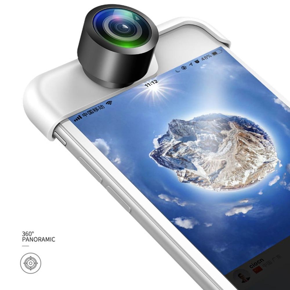 Original 360 Panorama Kamera Objektiv 2 stücke Telefon Objektiv Für iPhone 7X6 6 s Plus 8 8 Plus webcam Abdeckung Lente Para Celular