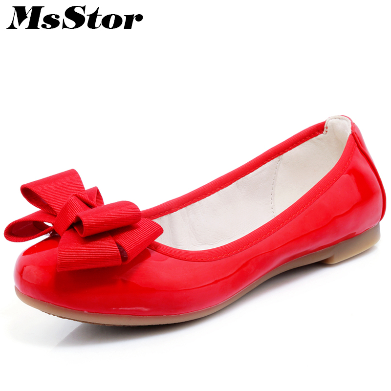 MsStor Round Toe Butterfly knot Ballet Flats Shoes Woman Shallow Soft Bottom Pregnant Women Shoes Sweet Sexy Women Flat Shoes [saziae] fashion shoes woman casual ballet dance shallow mouth women working comfortable leisure round toe women s bowtie shoes
