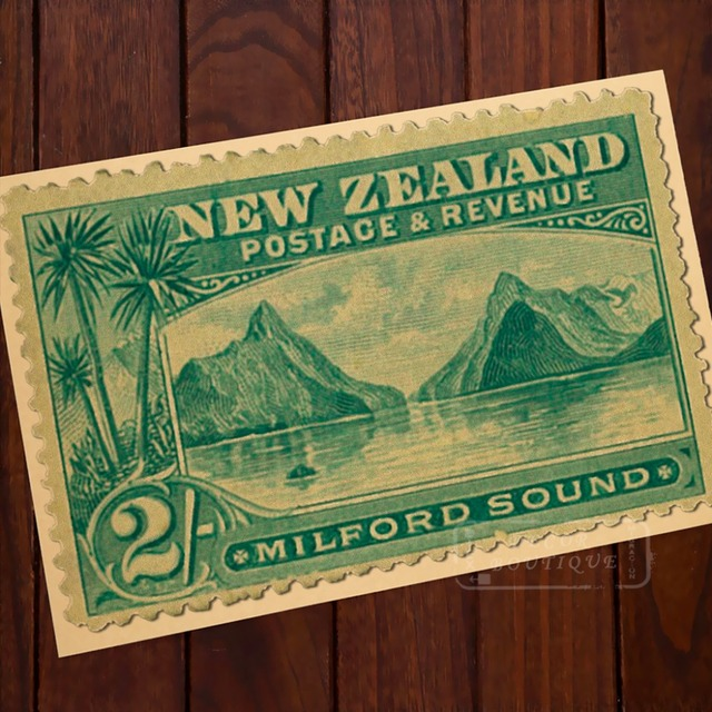 MILFORD SOUND POSTACE REVENUE Stamps New Zealand NZ Vintage Retro ...