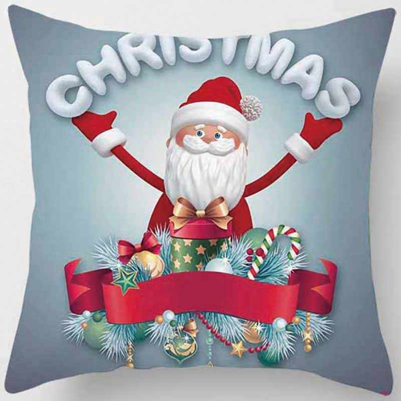 Hot البيع عيد ميلاد سعيد كيس وسادة كيس وسادة مربع s السنة الجديدة الكرتون وسادة يغطي حجم 45*45 سنتيمتر
