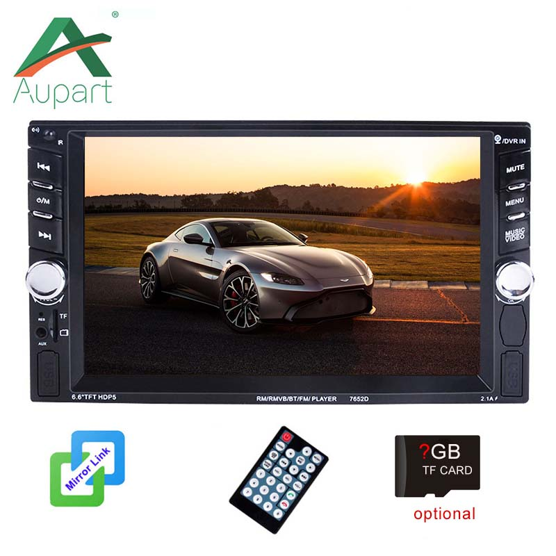 2din Car Radio Player 6.6 inch TFT Double din Touch Screen Audio 2 Din Autoradio MirrorLink  Multimedia Player FM Stereo-in Car Multimedia Player from Automobiles & Motorcycles
