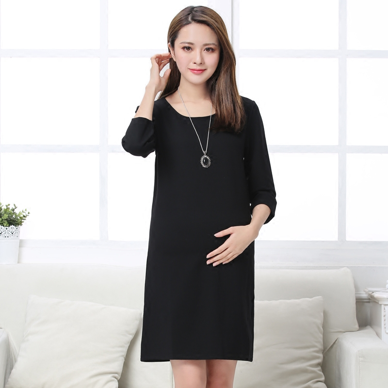 2018 summer pregnant women shirts loose dress maternity cotton long sleeve soft fat blouse vestidos lady clothes
