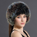 Winter Bomber Hats Solid Russian Women Headgear Real Fur Female Winter Caps Hats New 2016 Female Gorro Headband