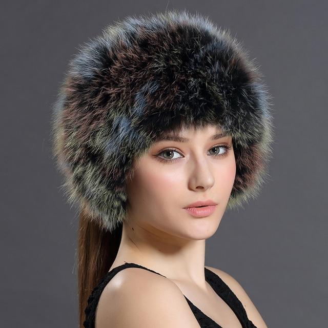Winter Bomber Hats Solid Russian Women Headgear Real Fur Female Winter Caps Hats New 2016 Female Gorro Headband