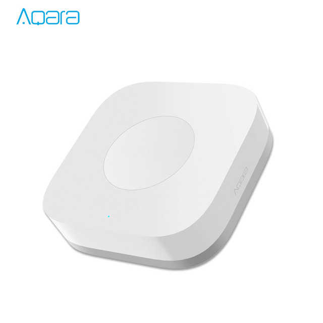 Xiaomi Mijia Aqara interruptor inalámbrico inteligente Control remoto de una tecla Aqara aplicación inteligente Control de la aplicación de seguridad del hogar