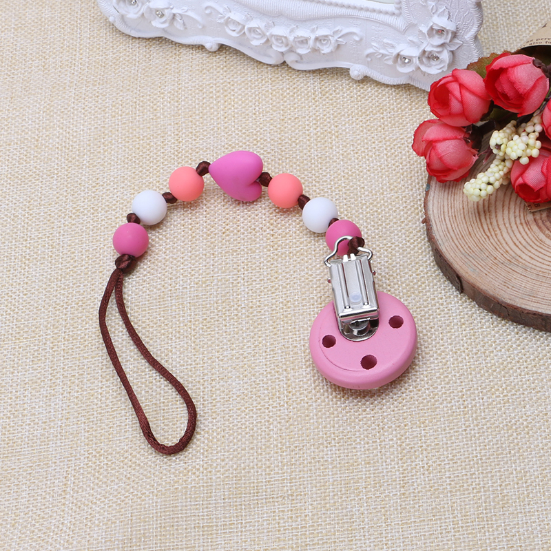 Online get cheap baby gifts personalized aliexpress alibaba 2017 preety child infant baby pacifier wood clips holders diy personalized baby gift apr1030china negle Images