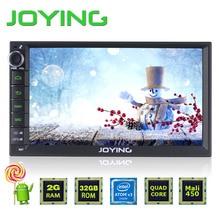 """2 GB + 32 GB 7 """"Double 2 Din Android 5.1 Universel De Voiture Auto Radio commande Au Volant JOYING Quad Core 1024*600 HD médias lecteur"""