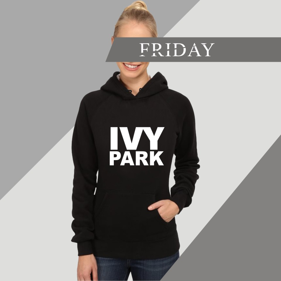 Hot Sale Beyonce Hoodies Women Colthes With XXS To 4XL And Fans Beyonce Ivy Park Hooded Women Sweatshirt With Cap Black Garments