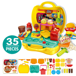 Image 4 - Keuken Pretend Play Kit Voedsel Speelgoed Miniatuur Educatieve Rol Speelhuis Spel Puzzel Cocina Juguete Gift Voor Meisje Kid Kinderen