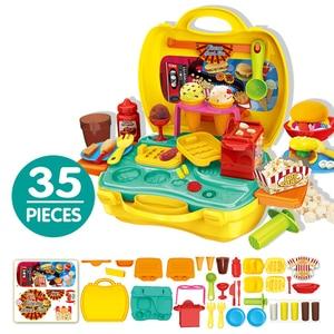 Image 4 - Kuchnia udawaj zagraj w zestaw zabawki w kształcie jedzenia miniaturowe edukacyjne do odgrywania ról dom gra Puzzle Cocina Juguete prezent dla dziewczyny Kid dzieci