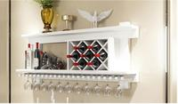 Solid wood wine rack, hanging red wine sitting room. The shelf.