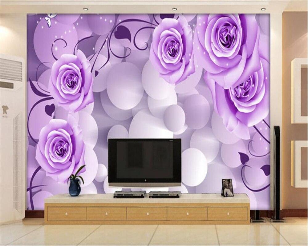 Beibehang 3d Wallpaper Kepribadian Tiga Dimensi Lingkaran Bunga