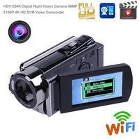 Hdv 534k 4 К 48mp Wi Fi Цифровой Камера HD 1080 P Ночь Версия видеокамера Видео Регистраторы 3.0 Поворот Экран с ЕС разъем