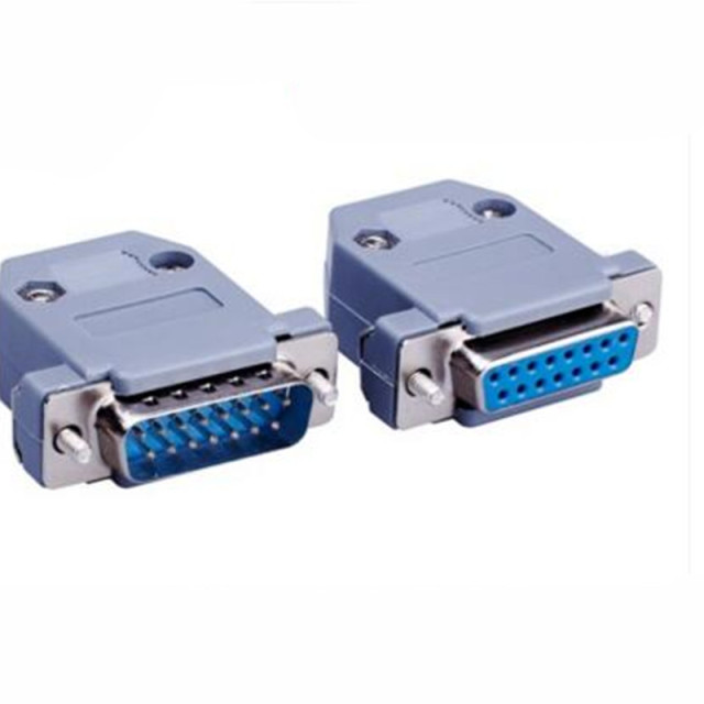 US $2.91 9% OFF|20pcs/lot 3 Rows Parallel VGA Port DB9 DB15 DB25 Connector on