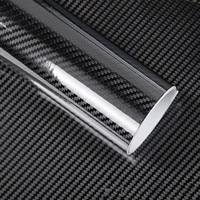 50 200cm Black 5D Carbon Fiber Vinyl Film Car Wrap Film Carbon Fiber Car Sticker Auto