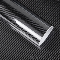 50 200cm Black 5D Carbon Fiber Vinyl Film Car Wrap Film Carbon Fiber Car Sticker Auto