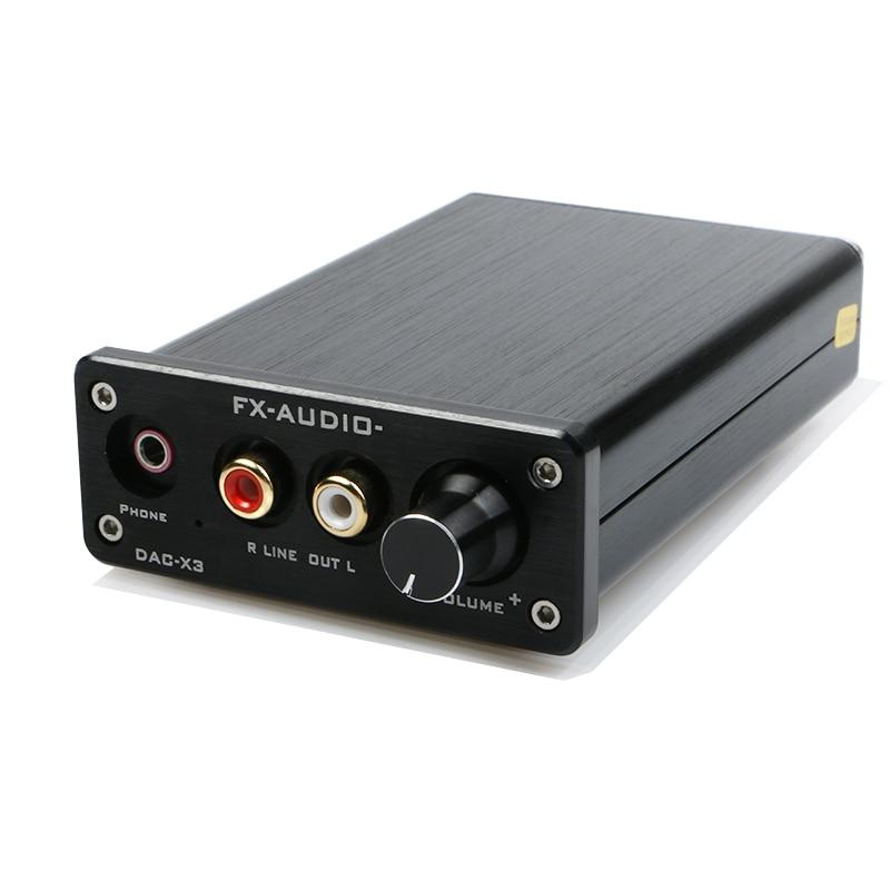 FX-AUDIO DAC-X3 Fiber Coaxial USB Decoder 24BIT/192Khz USB DAC Headphone 192khz Decoder audio amplifiers fx audio dac x6 hifi 2 0 digital audio decoder dac input usb coaxial optical output rca amplifier 16bit 192khz dc12v