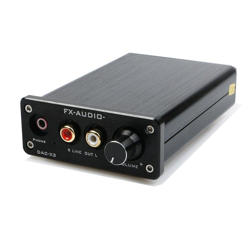 FX-AUDIO DAC-X3 Волокно коаксиальный USB декодер 24BIT/192 кГц USB DAC для наушников 192 кГц декодер аудио усилители