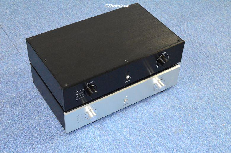 NEW High-grade Aluminum Preamplifier DIY enclosure amplifier chassis AMP BOX 4308 rounded chassis full aluminum enclosure power amplifier box preamplifier chassis