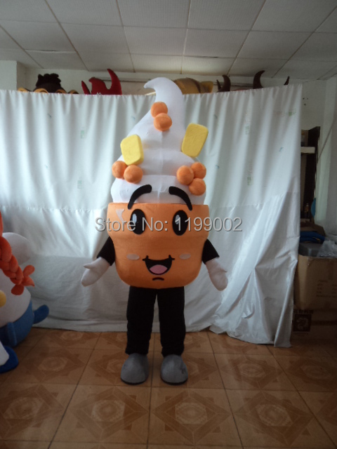 Free shipping hot selling high quality ice cream mascot costume/ice cream costumes