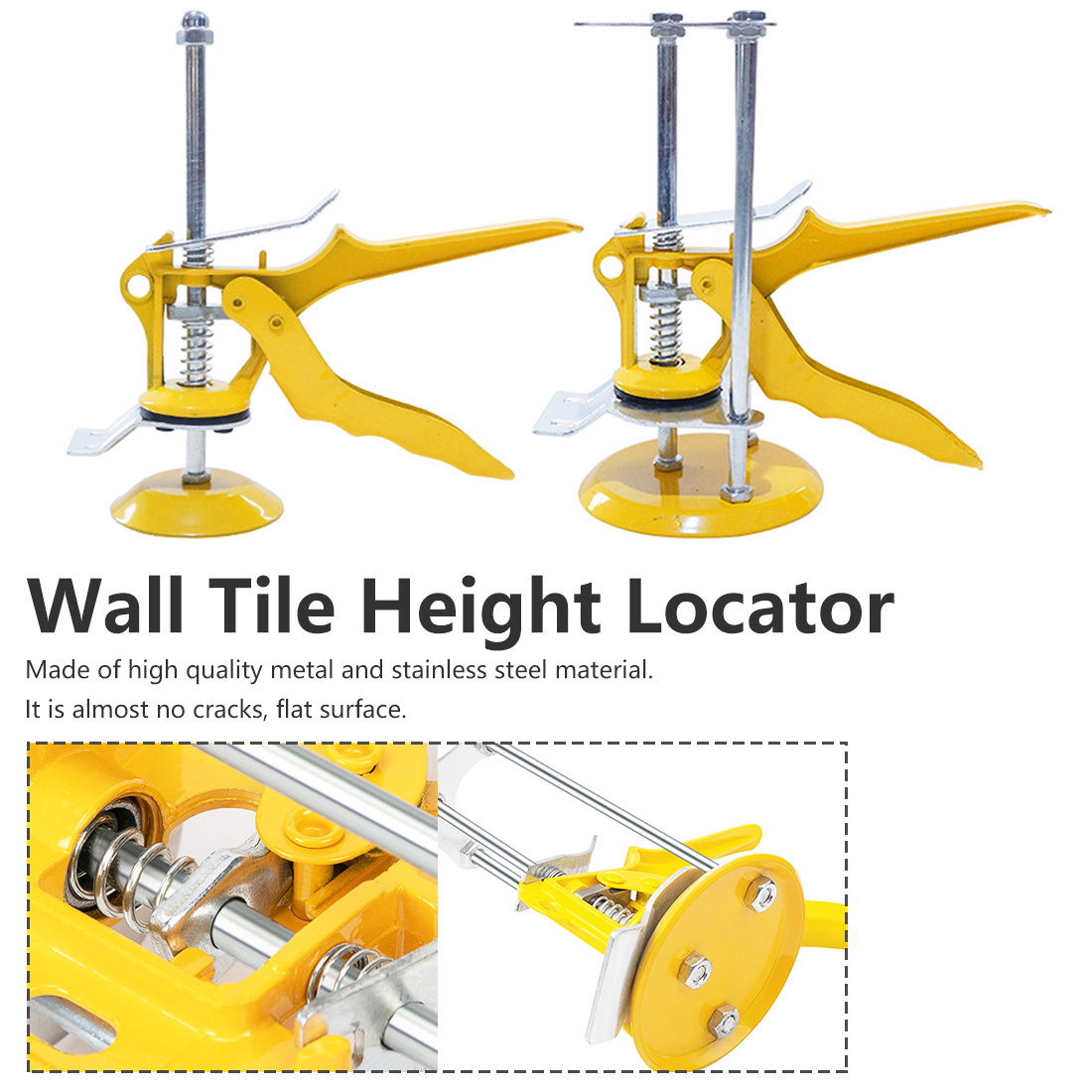 1pcs  Easy To Use Height Tool Wall Tile Height Locator Adjustable Steel Regulator Wall Brick Craftsman