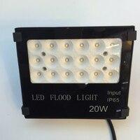 New SMD3030 IP65 Waterproof Led Flood Light 20W Black Shell Garden Lamp Spotlight Reflector Project For